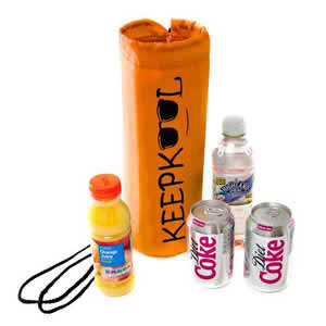 Insulated Bottle Cooler Bag in Orange. Keepkool logo from Caraselle
