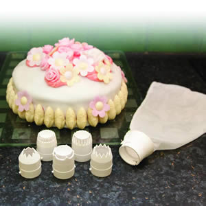 Caraselle Cake Decorating Set with 5 Nozzles & Piping Bag