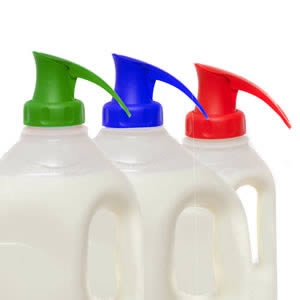 The Topster Household Pack of 3 Topster Milk Pourers Red, Green & Blue.