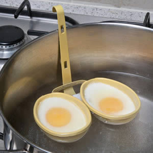 Caraselle Double Egg Poacher with non-stick coating