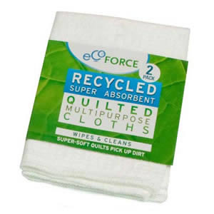 Pack of 2 Ecoforce Recycled Super Absorbent Multi purpose Cloths