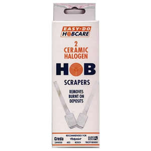 Pack of 2 x Easy Do Hobcare Ceramic Halogen Hob Scrapers