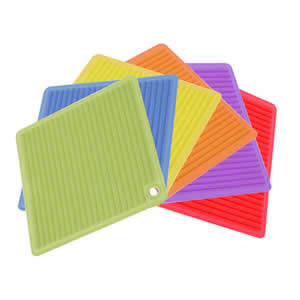 Caraselle Deluxe Orka Silicone Square PotHolder Stand Assorted Colours