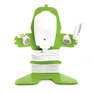 The New Caraselle Mi Cable Tidy in Green. Designed & Made in Britain