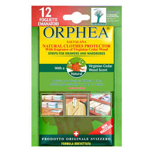 The New Caraselle Pack of 12 x Orphea Moth Repellent Strips with Cedar for Drawers & Wardrobes