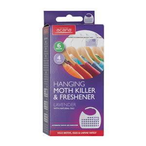 Acana Hanging Moth Killer &amp; Freshener Pack of 4 from Caraselle