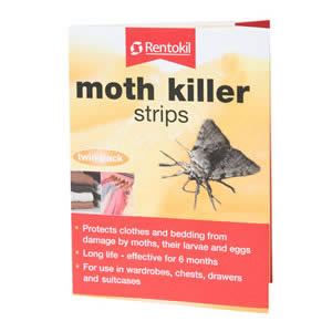 Caraselle twin pack of Moth Killer Strips by Rentokil