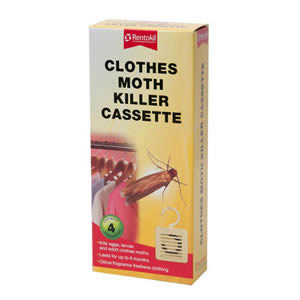 Caraselle pack of 4 Clothes Moth Killer Cassettes by Rentokil