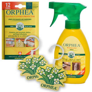 Caraselle Orphea Moth Buster Pack: Hanging Diffusers, Salvalana Spray & Repellent Strips
