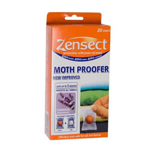 A pack of 20 Zensect Bouchard Moth Proofer Balls with Lavender Fragrance