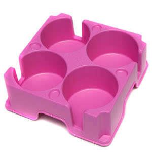 The New Caraselle Pink Muggi Mark 2 Cup Holder for 4 Cups.  Designed & Made in England