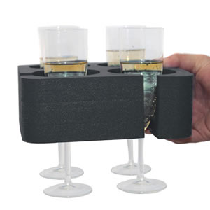 Black Champagne &amp; Wine Glass Muggi Holder
