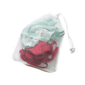 Caraselle Small Net Washing Bag with Lockable Drawstring 32 x 22 cm