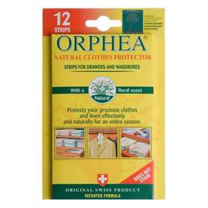 1 Pack of 12 Orphea Moth Repellent Strips For Drawers and Wardrobes
