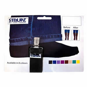 Black Strupz the Jeans Stirrups. Designed to keep Jeans in Boots.