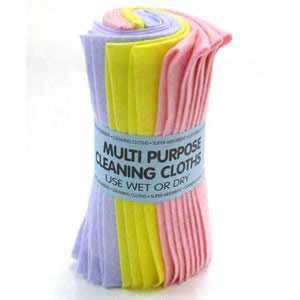 A pack of 5 Multi Purpose Cleaning Cloths
