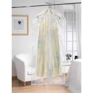 Zipped Clear Polythene Dress Cover