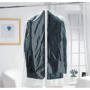 Zipped Clear Polythene Suit Cover