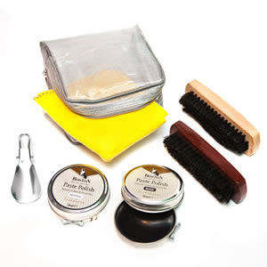 Caraselle Boston Deluxe Shoe Cleaning Kit in a handy Zipped Case