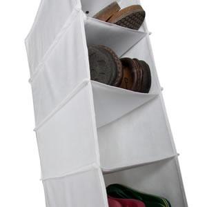 The Caraselle White Hanging 10 Pocket Shoe Organizer