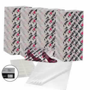 25 x Caraselle I Love My Shoes Ladies Shoe Boxes + 12 Clear Adhesive PVC Pockets + 25 sheets of Acid Free Tissue Paper