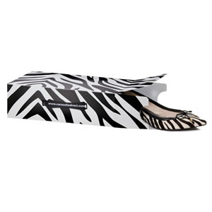 Pack of 6 Caraselle New & Unique Zebra Print Ladies Stackable Shoe Boxes