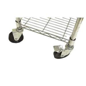 Heavy Duty Castors for the Chrome Wardrobe Storage Unit and the Chrome Finish Shoe Rack