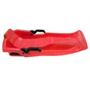 Deluxe Red Sledge with Brakes