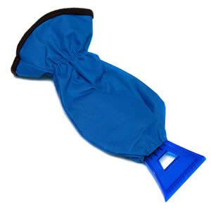 Caraselle Deluxe Ice Scraper with Mitt.  Heavy duty nylon outer with warm polyester lining