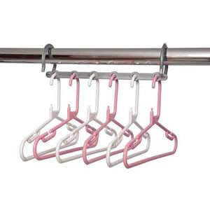 Pink & White Childrens Space Saver Hanger Pack