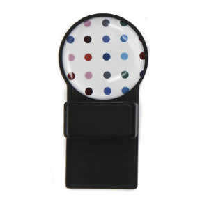 Caraselle Tozo Spectacle Holder Black with Coloured Spots