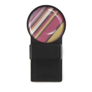 Tozo Spectacle Holder Black with Coloured Stripes