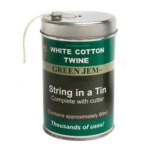 String in a Tin - White Cotton Twine