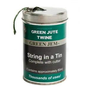 String in a Tin - Green Jute Twine