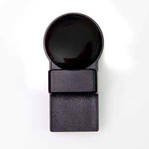 Plain Black Round Magnetic Tozo Spectacle Holder