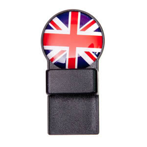 Caraselle Union Jack Black Round Magnetic Tozo Spectacle Holder