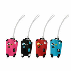 Funky Suitcase Design Luggage Labels, assorted colours