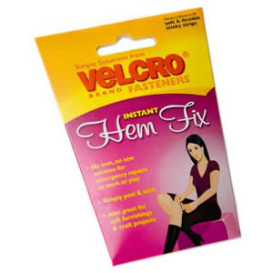 Pack of VELCRO Brand Hem Fix Instant Fasteners 20 x 19mm x 50mm sticky strips (60630)
