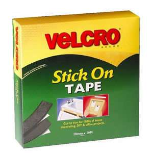 Jumbo VELCRO® Black StickOn Tape 20mm x 10M (60220) from Caraselle