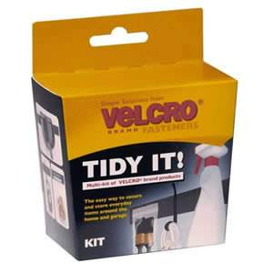 VELCRO® Brand Tidy It! Kit. The easy way to secure & store everyday items around the home & garage (60364)