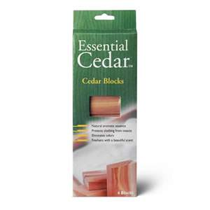 Pack of 4 x Deluxe Woodlore Aromatic Cedar Wood Blocks from Caraselle