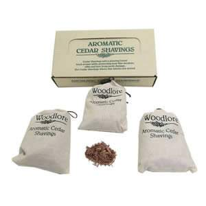 Aromatic Cedar Shavings from Woodlore - 3 Sachets