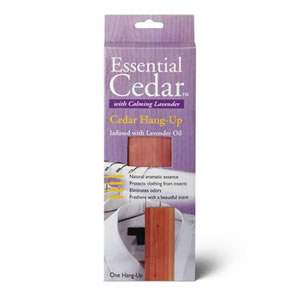 Deluxe Woodlore Aromatic Cedar Wood Hang-Up Infused with Calming Lavender Oil 270 x 48 x 19mm