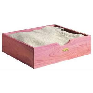 Woodlore Aromatic Cedar Wood Shirt / Sweater Box from Caraselle