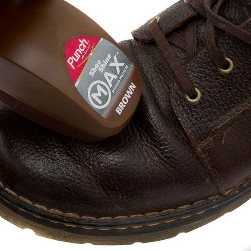 Caraselle Punch Shoe Shine Max Brown Sponge