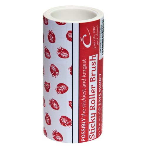 The Caraselle New & Unique 7.5m Designer Roller Refill with very sticky paper Strawberry Design