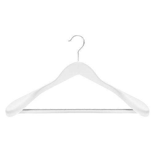 wooden coat hangers with non-slip trouser bar