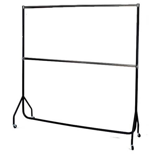Black & Chrome Garment Rail