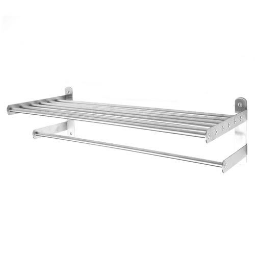 stainless steel wall mounted towel shelf with fixing screws. Black Bedroom Furniture Sets. Home Design Ideas