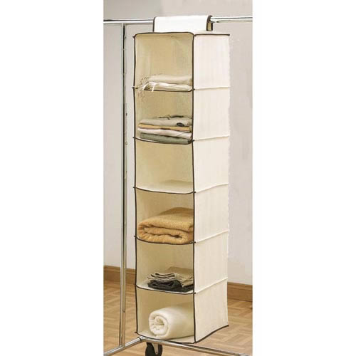 Cream Hanging Wardrobe Organizer from Caraselle